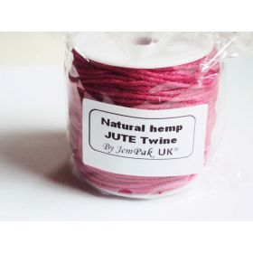 91.4M x 2mm x 2mm thick FUSHIA PINK natural Hemp Jute Twine rope