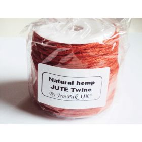 91.4M x 2mm  thick ORANGE natural Hemp Jute Twine rope