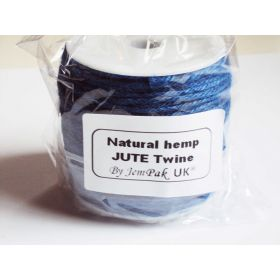 91.4M x 2mm thick ROYAL BLUE natural Hemp Jute Twine rope