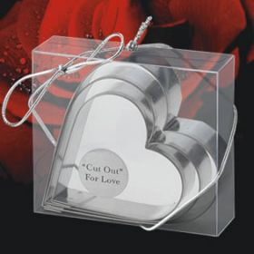 Heart shape cookie cutter in a clear PVC box (Pack of 10)