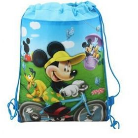 Mickey Mouse - kids drawstring backpack gym/swimming/school bag
