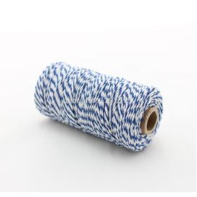 JEMPAK UK® 91.4M x 2mm thick 100% cotton bakers twine  - Blue Berry