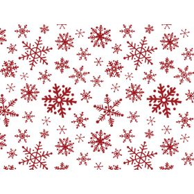 Pack of 6 Xmas SNOWFLAKE FLURRY Tissue Paper (51cm x 76cm)