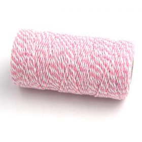 JEMPAK UK® 91.4M x 2mm thick 100% cotton bakers twine  - Pink