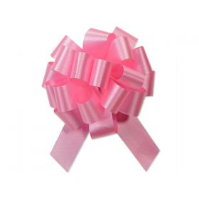 36mm embossed pull bow (Pack of 10) - Pink