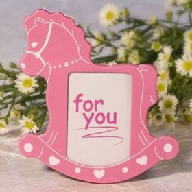 Pink rocking hose picture frame (Pack of 2)