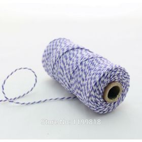JEMPAK UK® 91.4M x 2mm thick 100% cotton bakers twine  - Purple