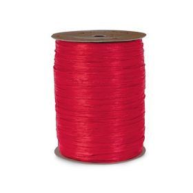 91.4M Berwick Matte Raffia ribbon - Red