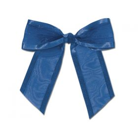 "1½"" Pre-Tied Organza Sheer Bows with satin edge - Royal blue (Pack of 12)"