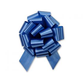 36mm embossed pull bow (Pack of 10) - Royal blue