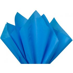 Pack of 4 tissue paper - Brilliant blue (51cm x 76cm)