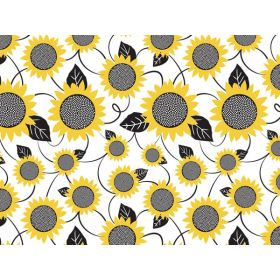 JEMPAK UK® Pack of  6 Sunflower Fields Tissue Paper - (51cm x 76cm)