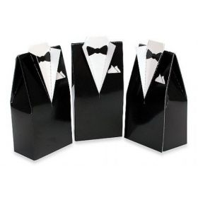Pack of 10 Tuxedo favour box
