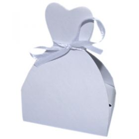 Pack of 10 Wedding dress favour box