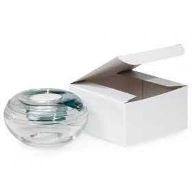 Pack of 10 white high Gloss Gift/favour boxes with hinged lid (10cm x 10cm x 5cm)