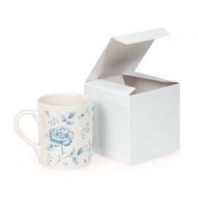 Pack of 10 white matte Gift/favour boxes with hinged lid (10cm x 10cm x 10cm)