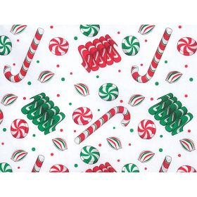 Pack of 6 Xmas candy Tissue Paper (51cm x 76cm)