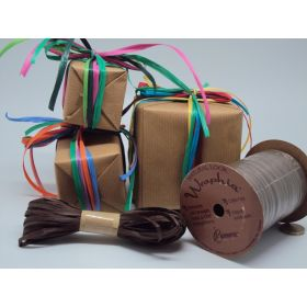 10M CUT Berwick Matte Raffia ribbon - Chocolate