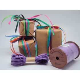 10M CUT Berwick Matte Raffia ribbon  - Purple