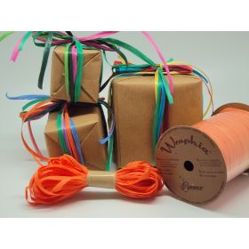 10M CUT Berwick Raffia ribbon - Orange