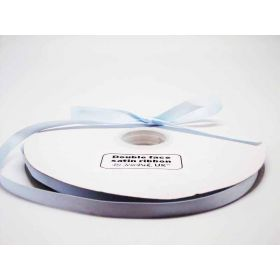 5M x 10mm Double face satin ribbon - Bluebell