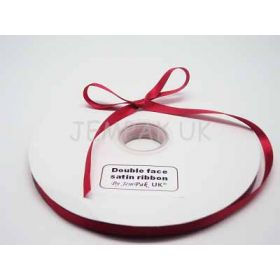 5M x 10mm Double face satin ribbon - Red
