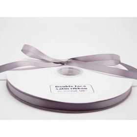 5M x 10mm Double face satin ribbon - Silver