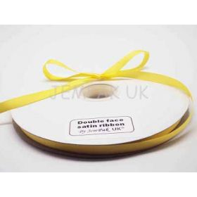5M x 10mm Double face satin ribbon - Yellow