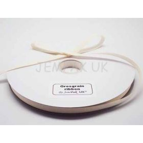 5M x 10mm Grosgrain ribbon - Antique white