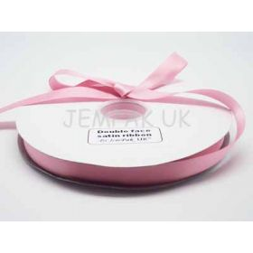 5M x 15mm Double face satin ribbon - Peony Pink