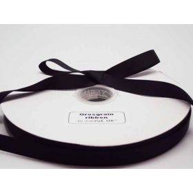 5M x 15mm Grosgrain ribbon - Black