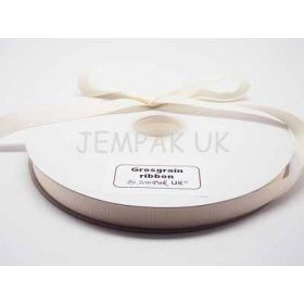 5M x 15mm Grosgrain ribbon - Antique white