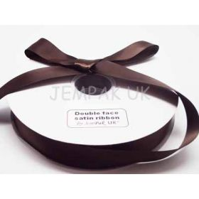 5M x 25mm Double face satin ribbon - Chocolate Brown