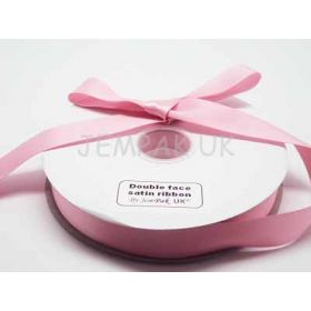 5M x 25mm Double face satin ribbon - Peony Pink