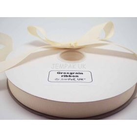 5M x 25mm Grosgrain ribbon - Antique white