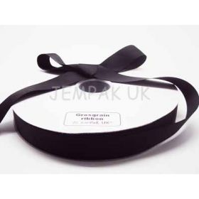 5M x 25mm Grosgrain ribbon - Black