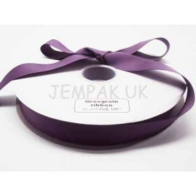 5M x 25mm Grosgrain ribbon - Purple