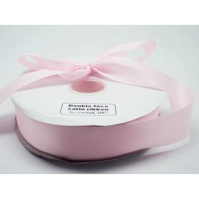 5M x 38mm Double face satin ribbon - Baby pink