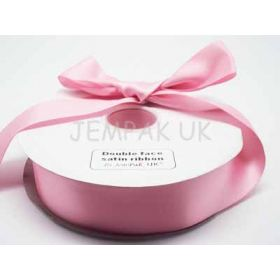 5M x 38mm Double face satin ribbon - Peony Pink