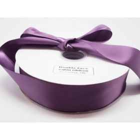 5M x 38mm Double face satin ribbon - Purple