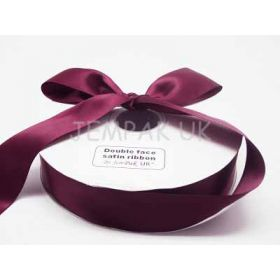 5M x 38mm Double face satin ribbon -Wine