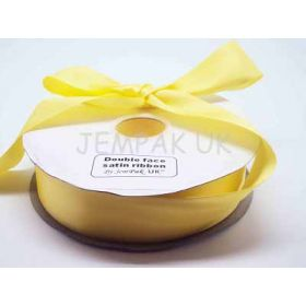 5M x 38mm Double face satin ribbon - Yellow