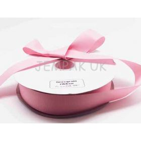 5M x 38mm Grosgrain ribbon - Baby pink