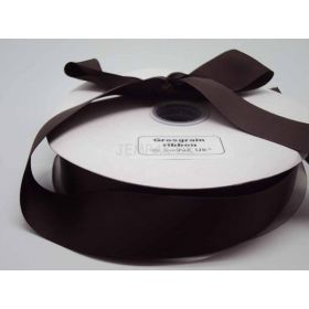 5M x 38mm Grosgrain ribbon - Chocolate Brown