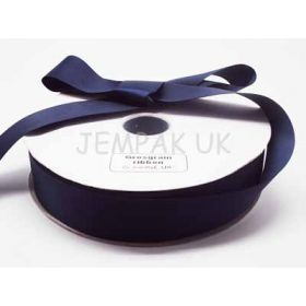 5M x 38mm Grosgrain ribbon - Navy blue