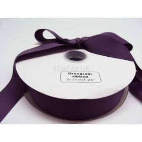 5M x 38mm Grosgrain ribbon - Purple