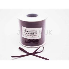 5M x 5mm Double face satin ribbon - Burgundy