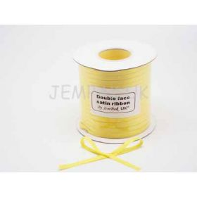 5M x 5mm Double face satin ribbon - Yellow