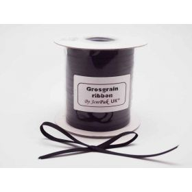5M x 5mm Grosgrain ribbon - Black