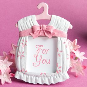 Poly resin girl place card frame (Pack of 2)